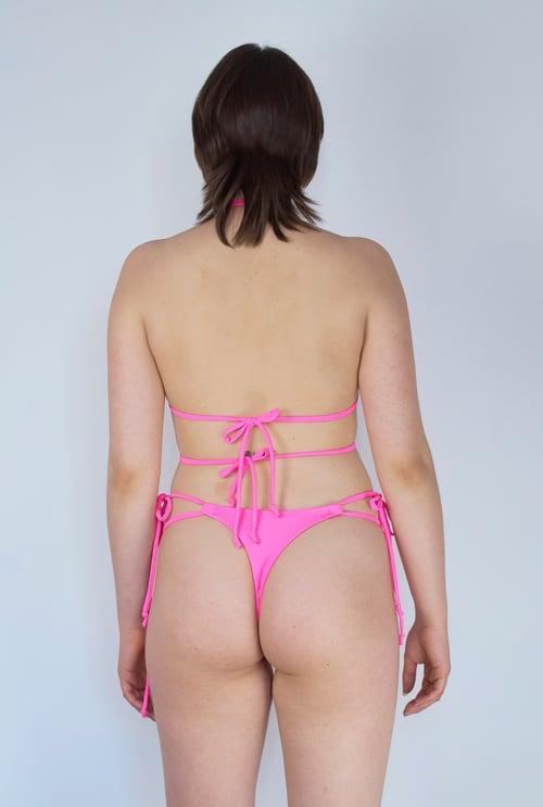 Image of Tiny Triangle Top - Bimbo Pink