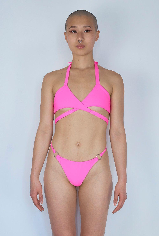 Image of Candy Wrap Top - Bimbo Pink