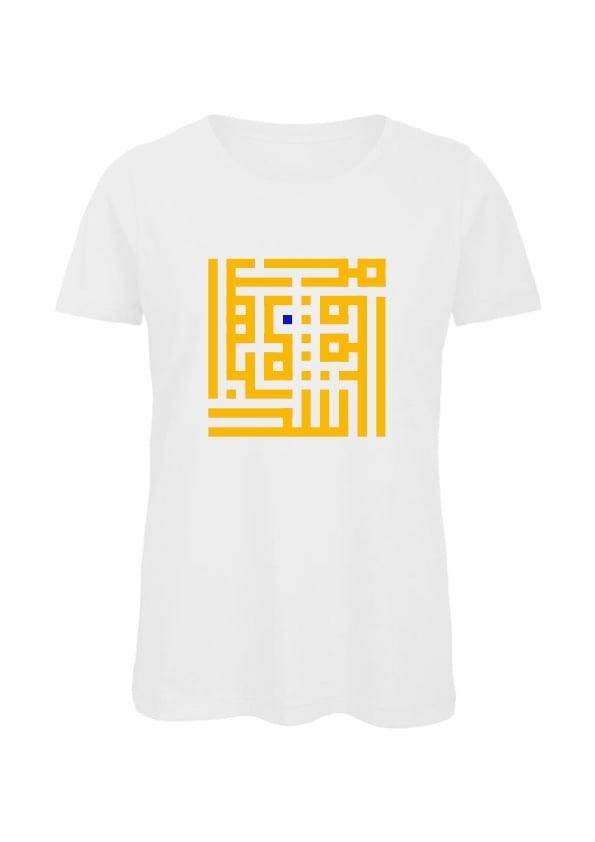 Image of Woman t-shirt - Yellow B calligraffiti