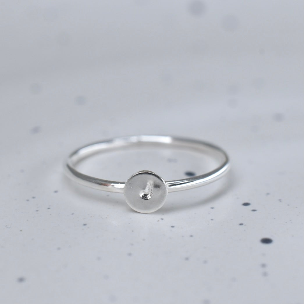 Image of Tiny Initial Ring Silver