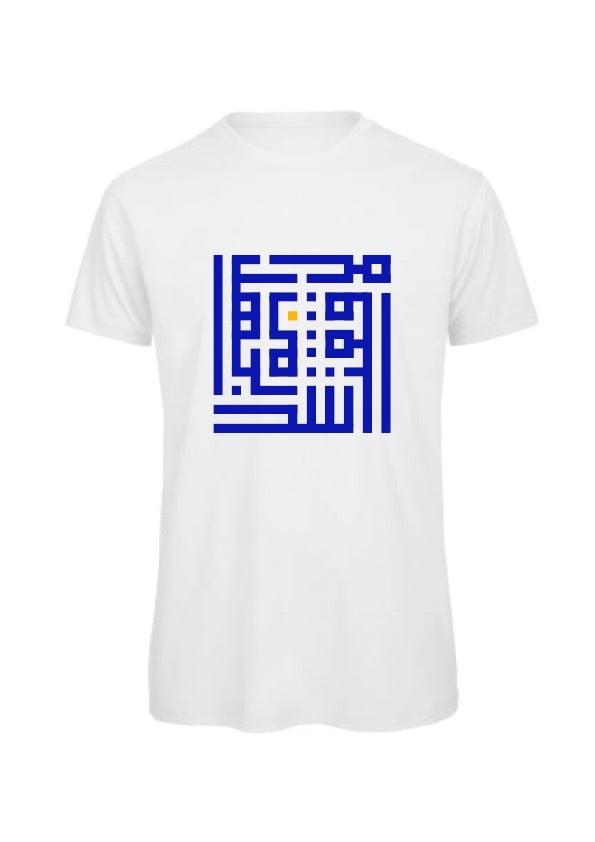 Image of Man t-shirt - Blue Y calligraffiti
