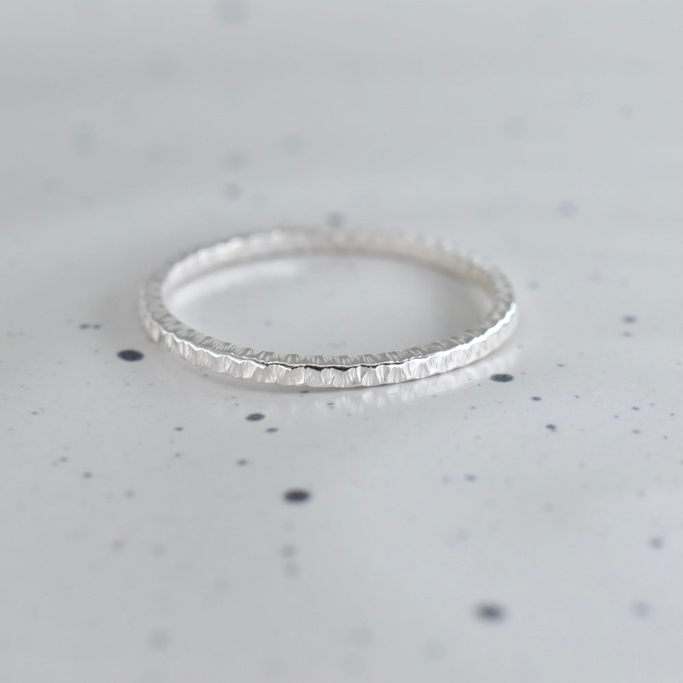 Image of Square Sparkle Ring in Sterling Silver