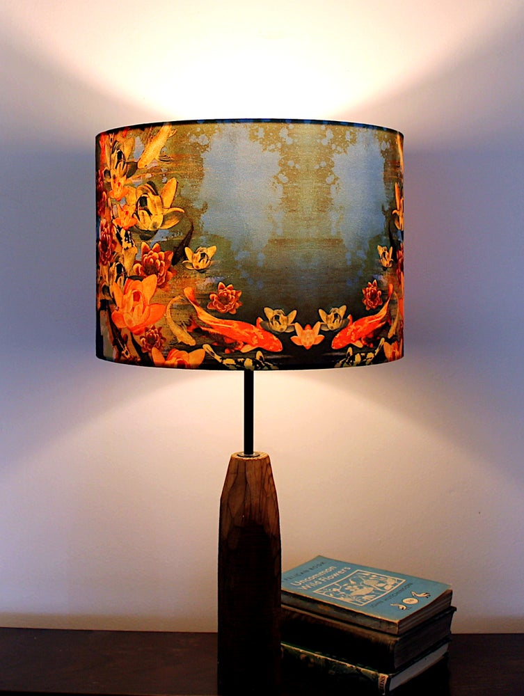 Image of Koi Pond Drum Lampshade by Lily Greenwood (30cm Diameter)