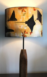 Image of Spotted Eagle Rays Drum Lampshade by Lily Greenwood (30cm Diameter)