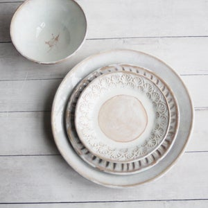 Image of Reserved for Jenni - Handmade Dinnerware Set, Six Place Settings, Made in USA