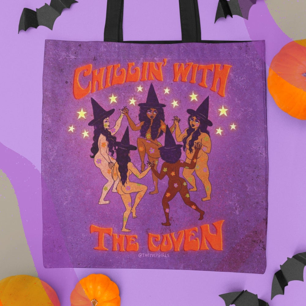 Image of CHILLIN' WITH THE COVEN TOTE BAG