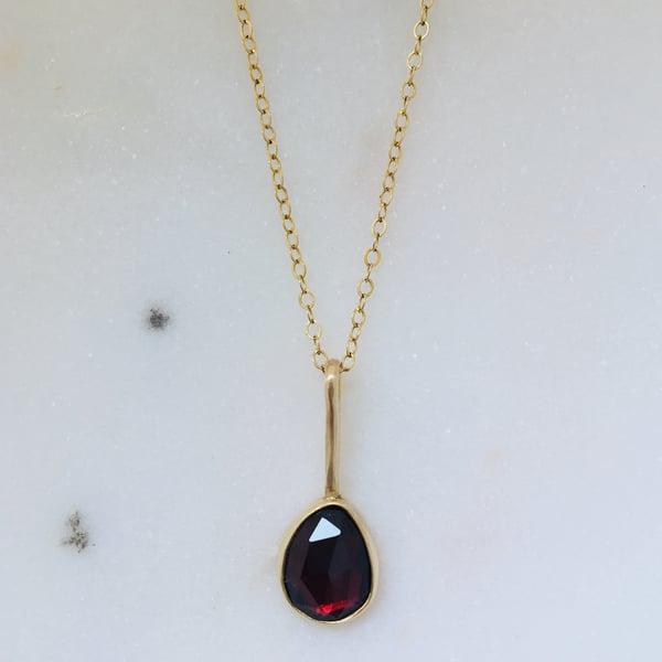 Image of Garnet Pendant #1