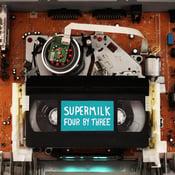 Image of Supermilk – Four By Three LP (white / turquoise split colour vinyl)