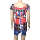 Image 3 of Plaid Crop Top & Suspenders Romper