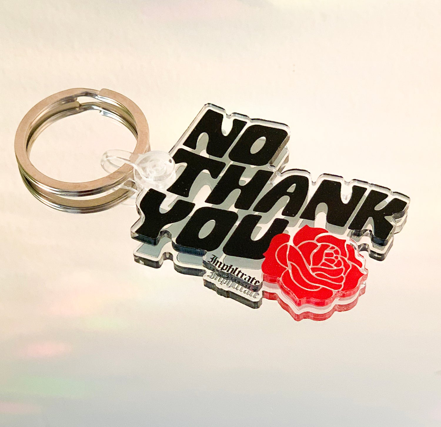 Image of No Thank You Keychain