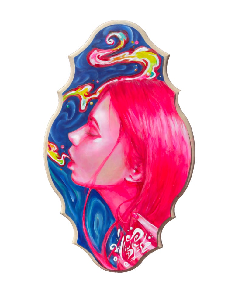 """Image of <font color=""""red"""">Clearance </font>""""Bubblegum Babe"""" Original Painting"""