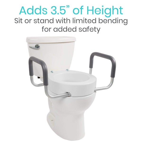 Image of Toilet Seat Riser with Arms