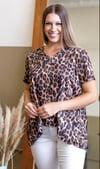 Vintage leopard V neck Top
