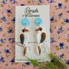 Kookaburra Blue Drop Earrings