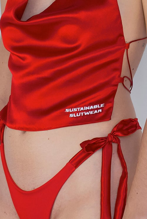 Image of Softie Top - Hot Red