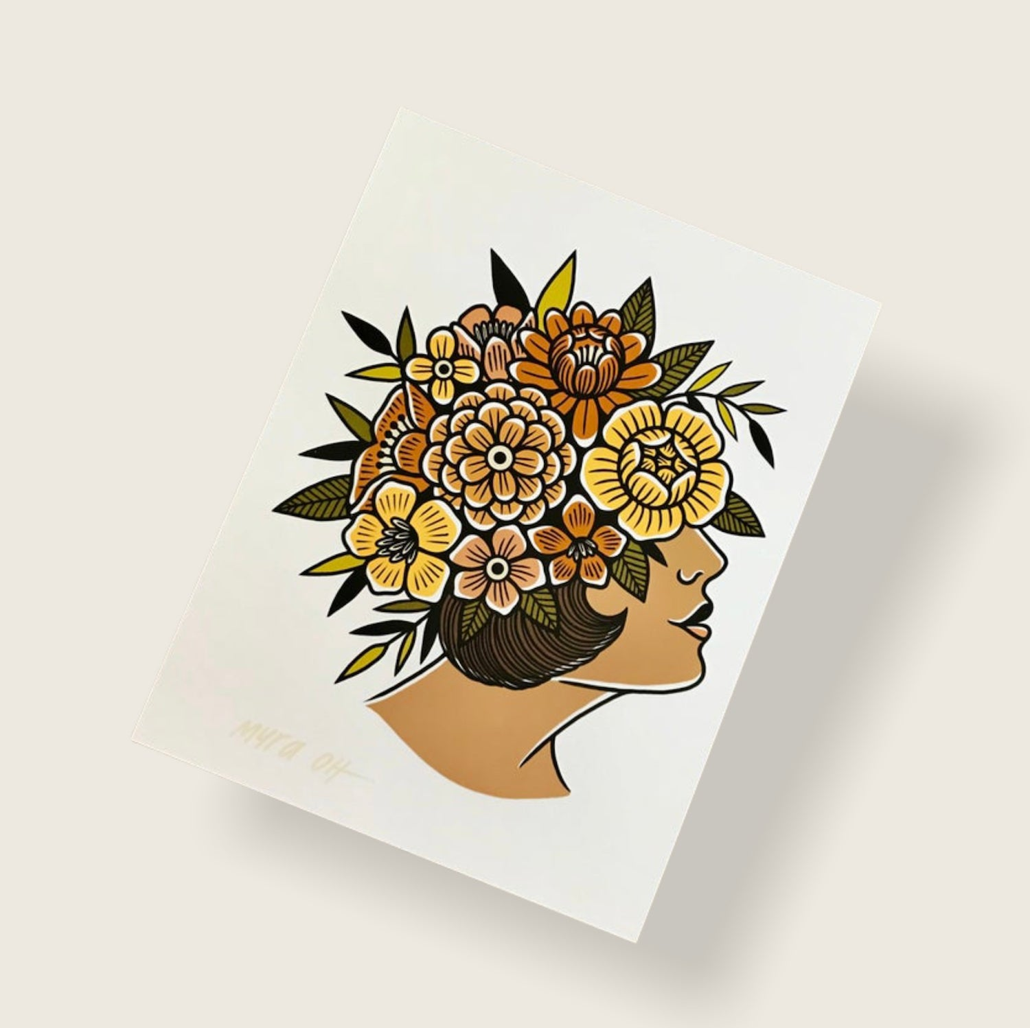 Image of Floral Face print