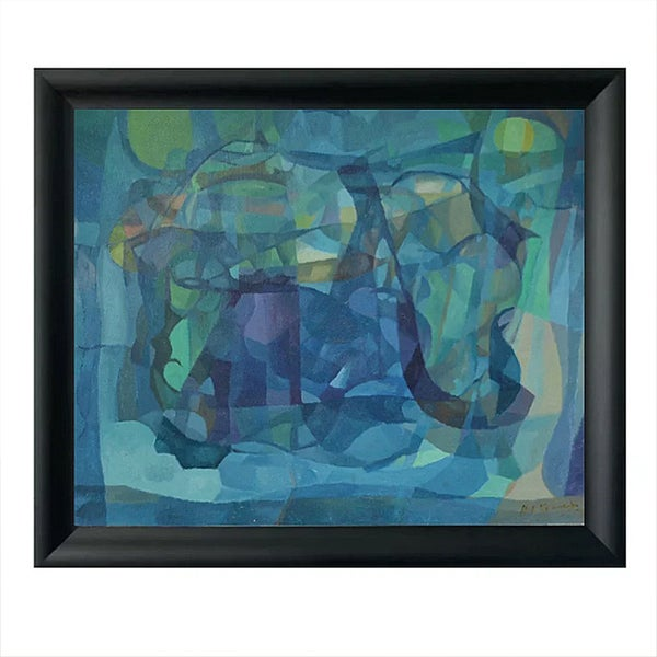 Image of Mid-century Painting, 'Blue,' Horas Kennedy