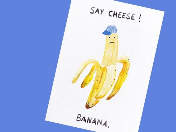 Image of POSTKARTE Say Cheese! Banana