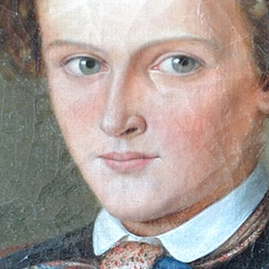 Image of 19th Century, French, Portrait Painting of a Boy