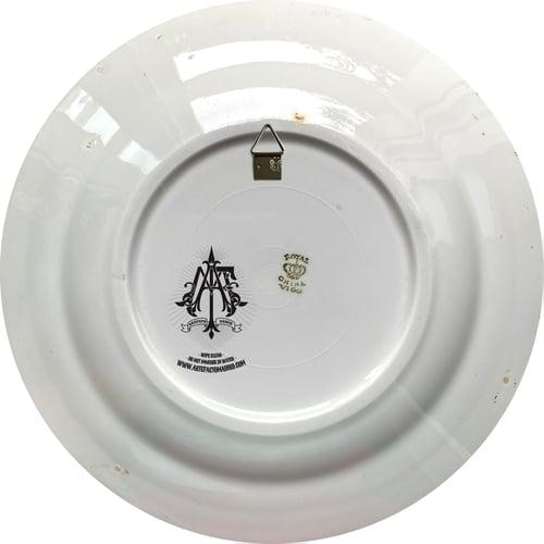 Image of Won't stop us - Self-portrait  - Vintage Spanish Porcelain Plate - #0762