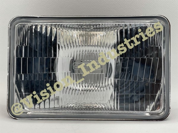 Image of (4) 4x6 OEM STOCK STYLE GLASS (lOW & HIGH BEAM)  with LED 6K