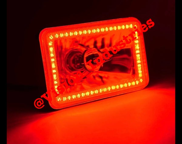 Image of 4X6 SMD RED HALO SUPER BRIGHT SET (4) SELECT FROM DROP DOWN BOX