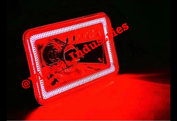 Image of 4X6 COB RED SOLID HALO SUPER BRIGHT SET (4) SELECT FROM DROP DOWN BOX