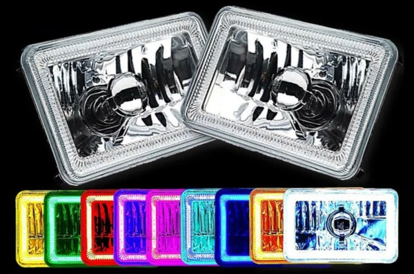 Image of (4) 4X6 RGB  COLOR CHANGING LED - CONTROLLED WITH REMOTE SELECT FROM DROP DOWN BOX