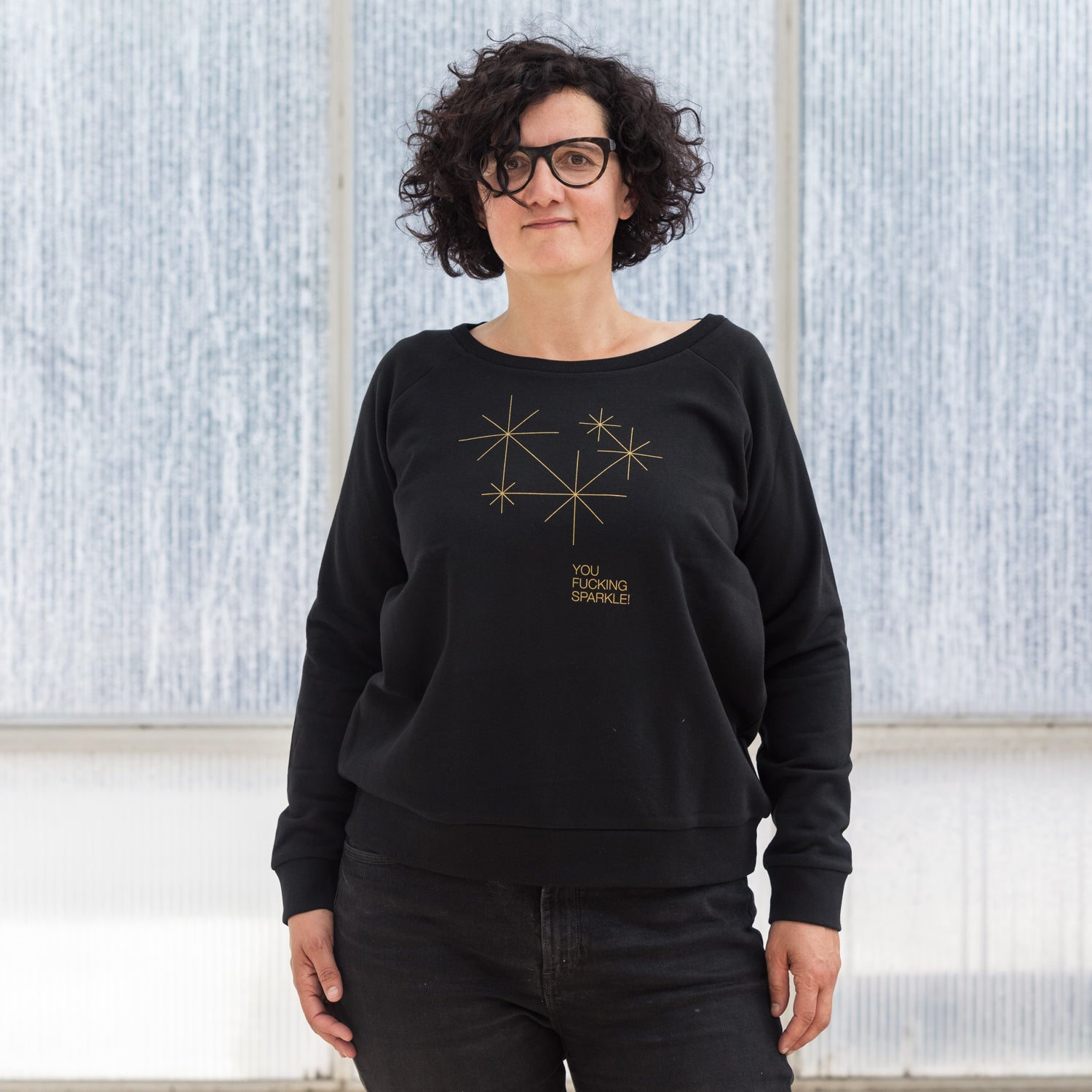 Image of SWEATER WOMAN SPARKLE black
