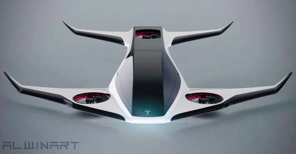Image of Tesla eVTOL Concept