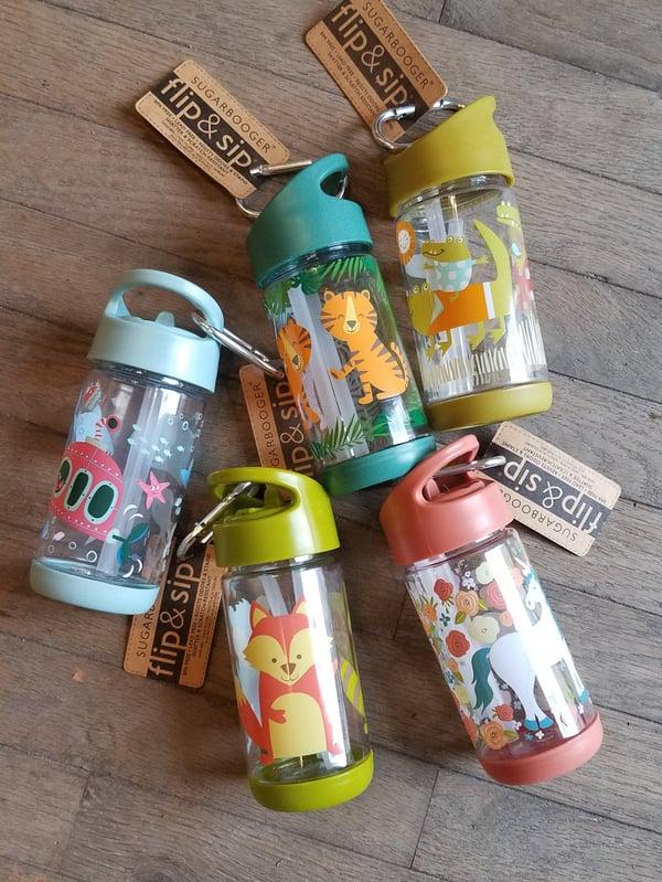 Image of Flip & Sip 12 oz Kids Reusable Water Bottle