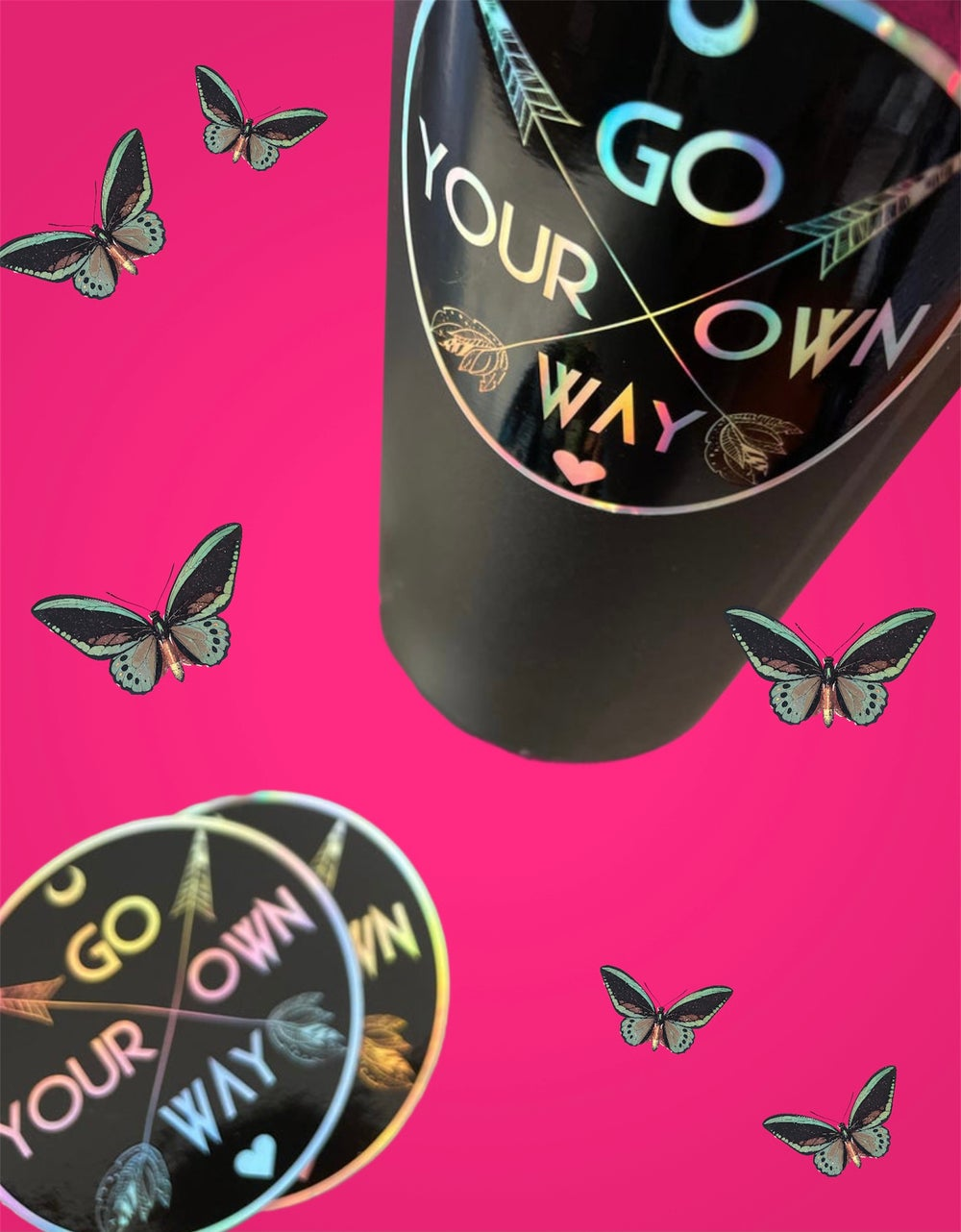 Image of Fleetwood Mac Go Your Own Way Holographic Sticker