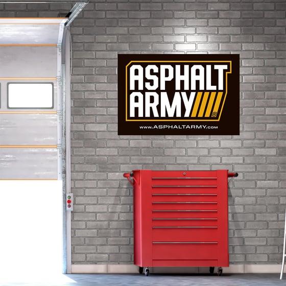 Image of 2x3' ASPHALT ARMY Logo Banner