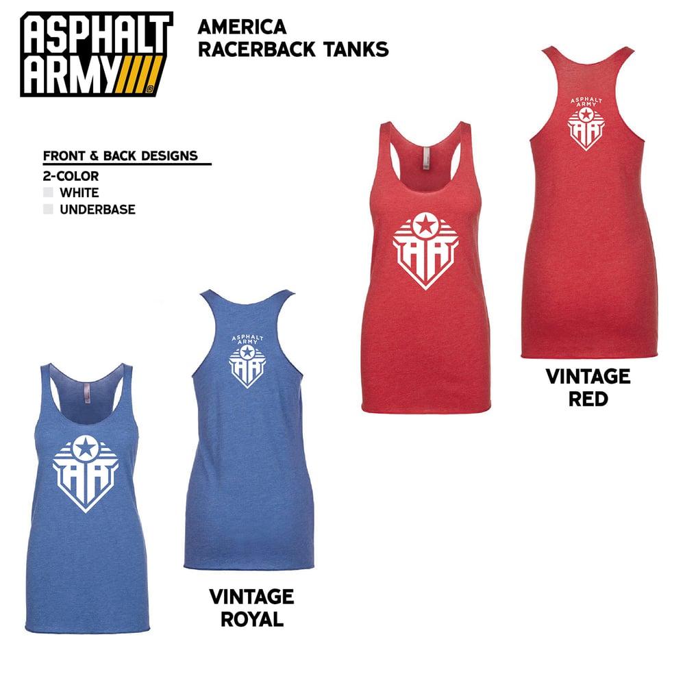 Image of AMERICA Racerback Tanks
