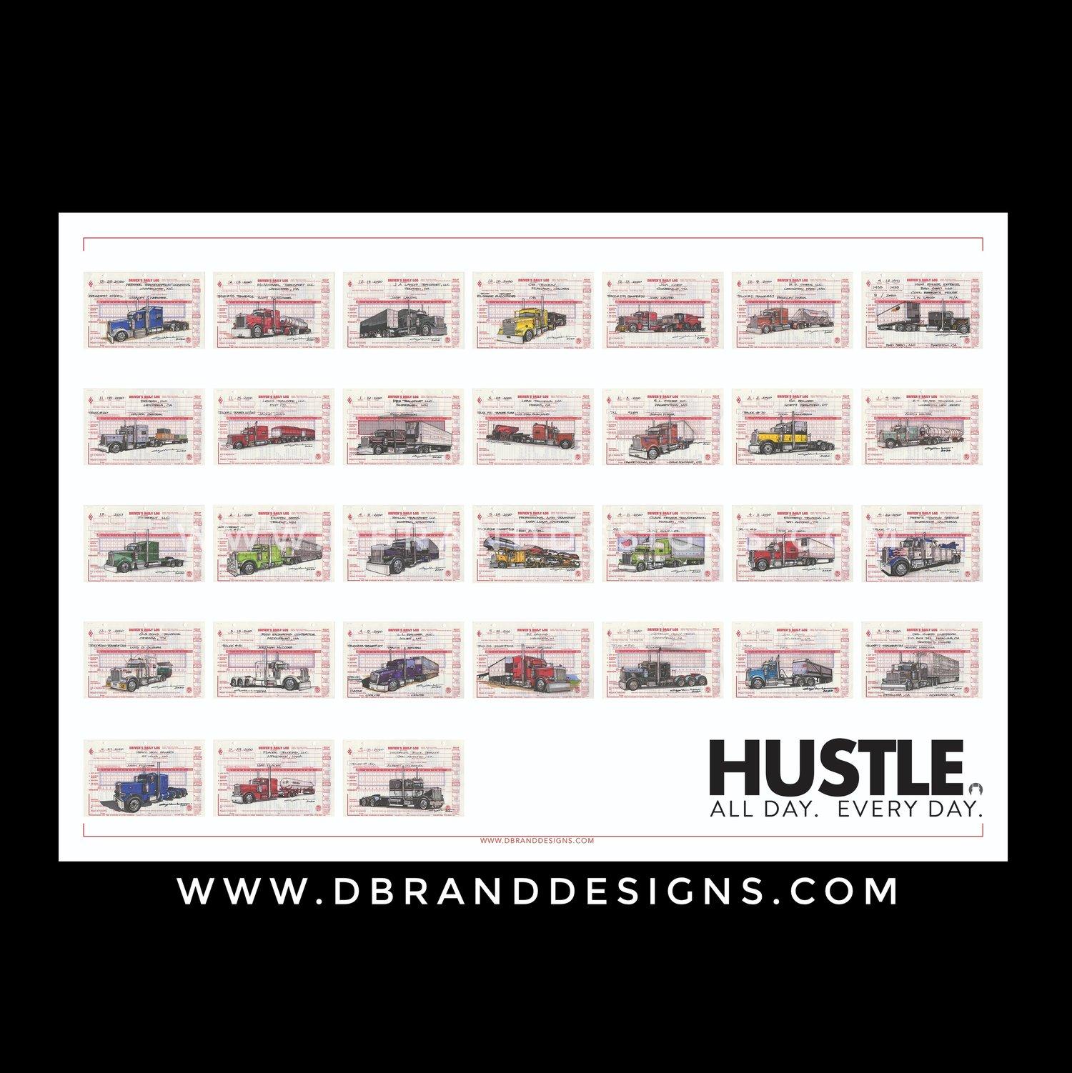Image of Hustle - Heavy Hitters 1 - 13x19 Print