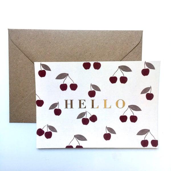 Image of Carte Hello Cherry