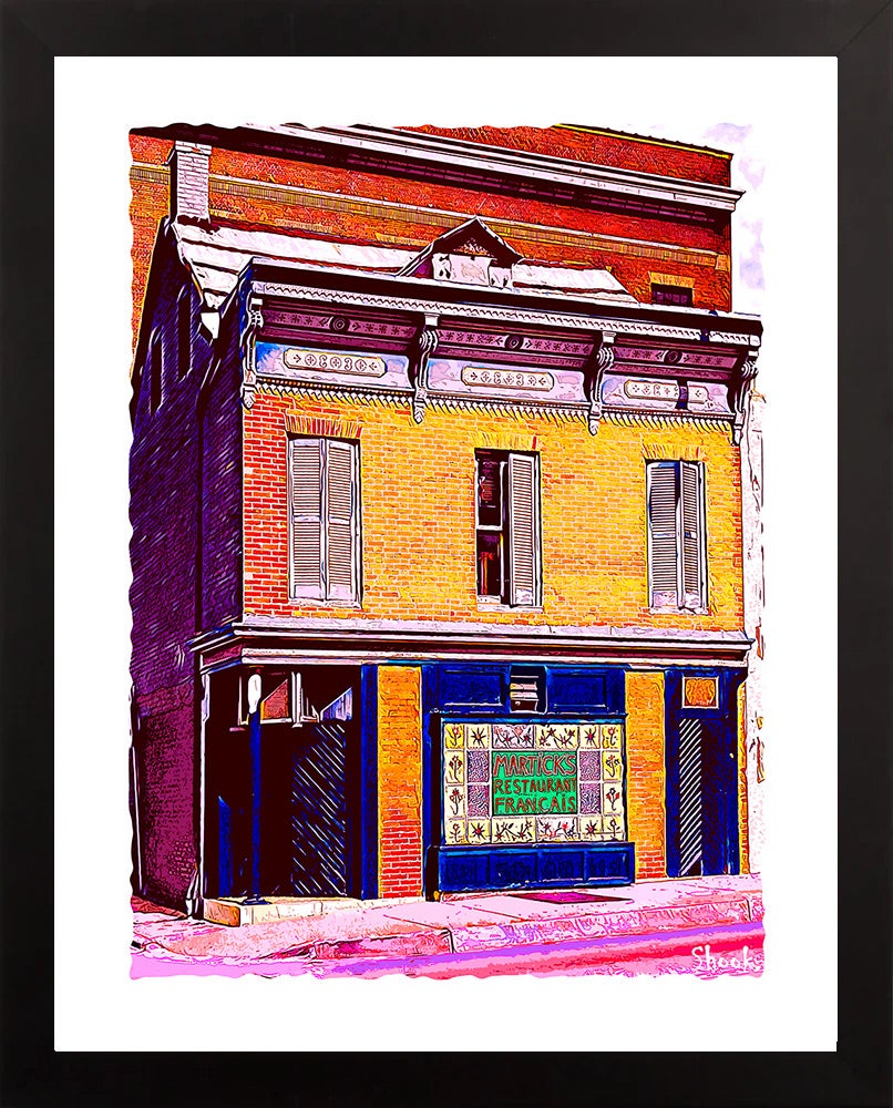 Martick's Restaurant Francais, Baltimore MD Giclée Art Print (Multi-size options)