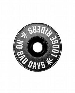 Image of Stem Cap - No Bad Days - White on Black
