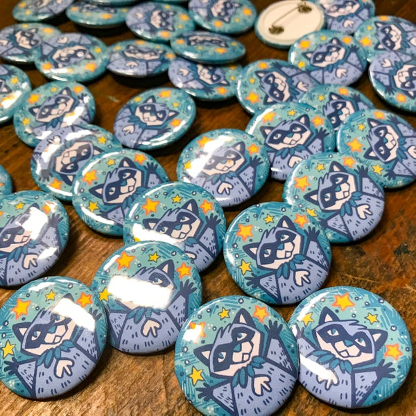 Image of Raccoon Star - Button Badge