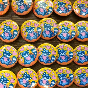 Image of Raccoon Love - Button Badge