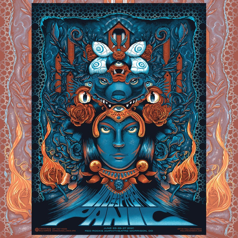 Image of Widespread Panic x Conscious Alliance Red Rocks