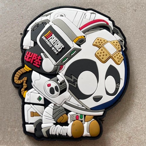 Image of Astro Panda Patch [White]