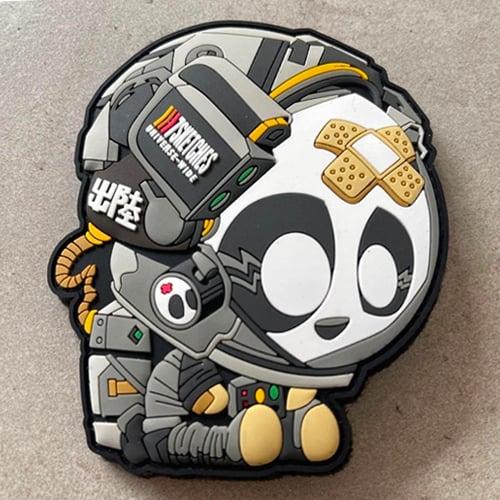 Image of Astro Panda Patch [Black]