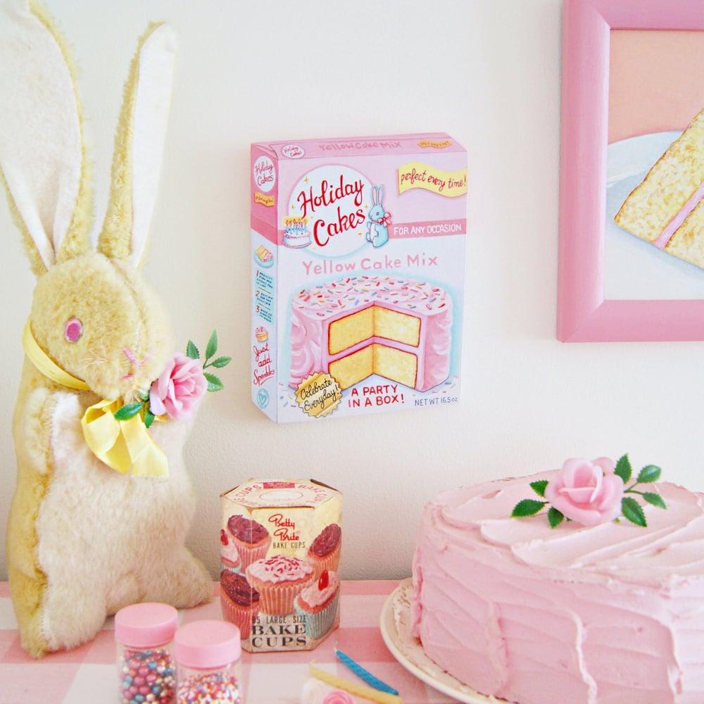 Image of Cake Mix box plaque