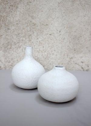 Image of Vase goutte, blanc corail (n2)