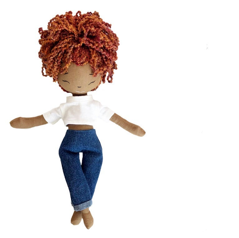 Cyn Handmade Linen Doll (THIS ITEM WILL SHIP ON OR BEFORE OCTOBER 10th)