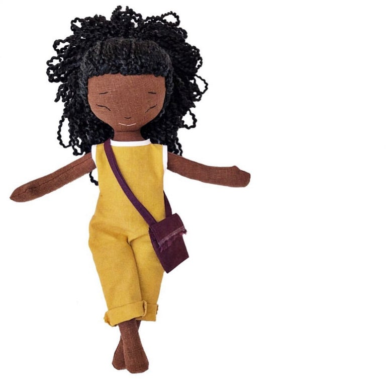 Ayo Handmade Linen Doll (THIS ITEM WILL SHIP ON OR BEFORE OCTOBER 10th)