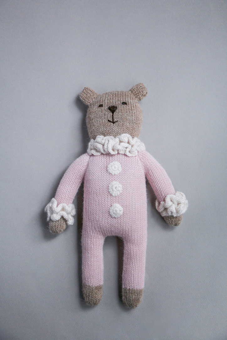 Image of teddy knit toy | pink