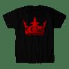 CRIMSON CROWN WRESTLING-RED VARIANT LOGO SHIRT (BLACK)