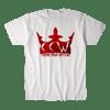 CRIMSON CROWN WRESTLING-RED VARIANT LOGO SHIRT (WHITE)